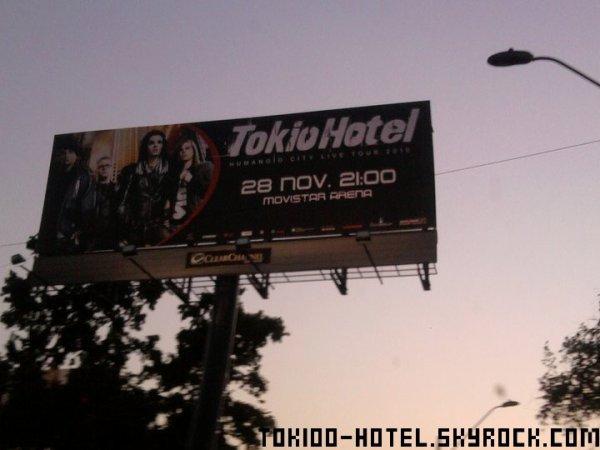 Affiche pour le concert des garçons au Chili le 28.11.10