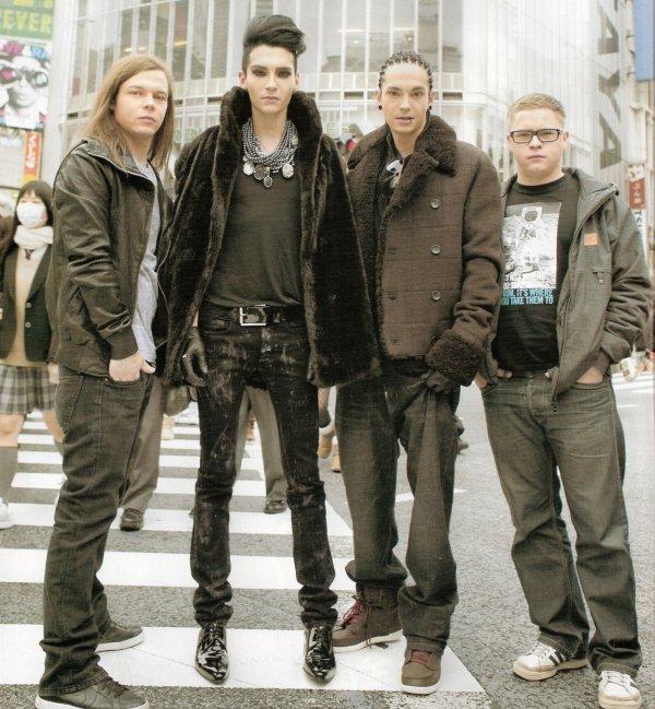 Le groupe à Tokyo