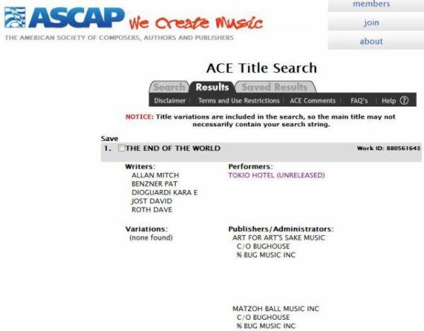 """Rumeur: 2 nouvelles chansons inédites !   """"Therapy"""" & """" The end of the world"""" ont été écrite en 2009, mais elles ne sont jamais sorties.    Pas plus d'info pour le moment."""