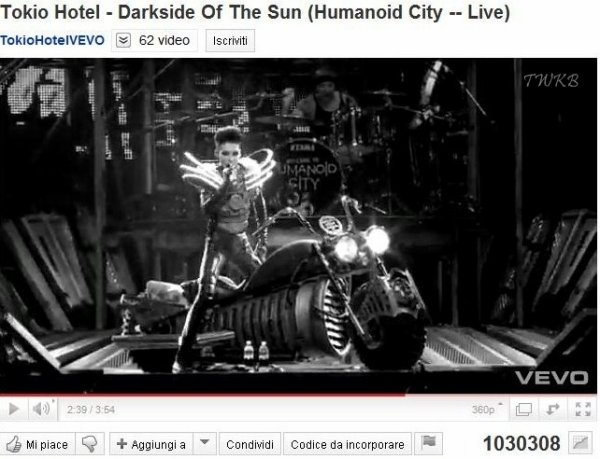 """Darkside of the Sun"" a atteint un million de visites sur Youtube"
