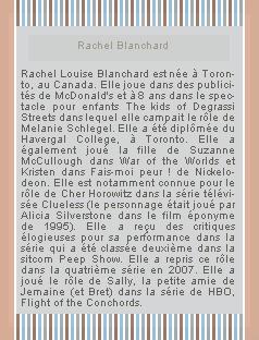 ___World-seriies.skyrock.com___₪______________--Actrice : Rachel Blanchard--___________________Création-Décoration