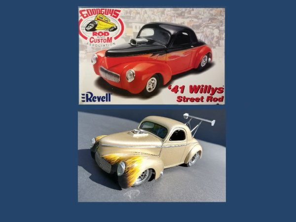 WILLYS ' 41 STREET ROD - REVELL - PRESENTATION