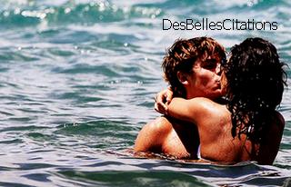 """""""Tu crois nager dans le bonheur, mais fait gaffe à ne pas te noyer."""" Ridsa - L'amour pour tous."""