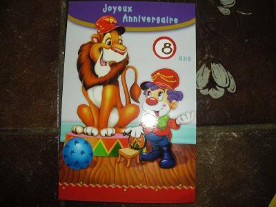 carte anniversaire d'anaelle