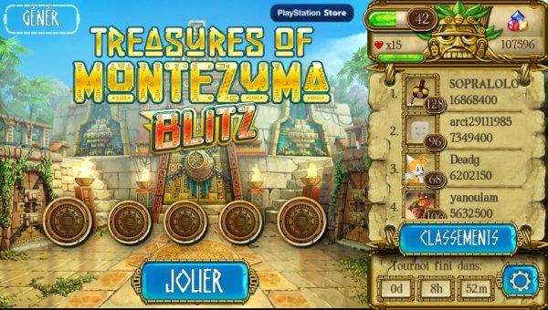 Treasures Of Montezuma Blitz Mon Score Actuel 1