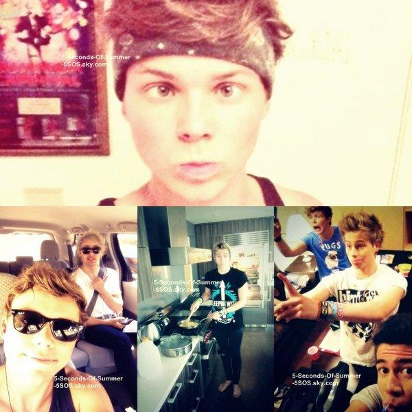 18/08/13: Les boys ont fait une twitcam dans leur villa à L.A. +Luke a été vu dans l'après midi se promenant (je n'ai qu'une photo).