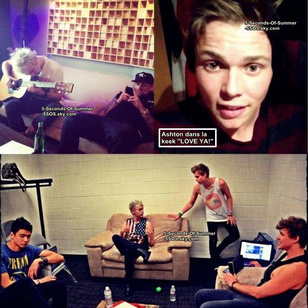 Nouvelles photos des garçons en studios ces derniers jours avec Joel Madden. +Ashton est un peu malade en ce moment.