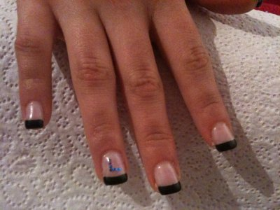 French bleue foncee et strass lettre