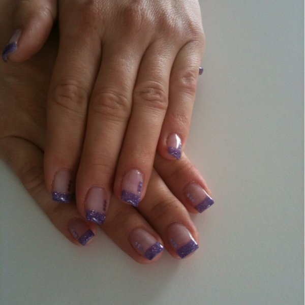 french violette paillettes et strass violets