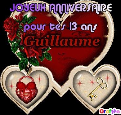 Joyeux Anniversaire Guillaume Pour Tes 13ans Bizou Bizou Marraine