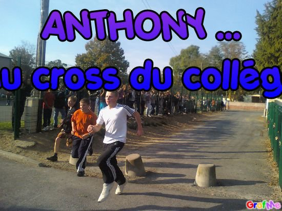 anthony au cross du collége