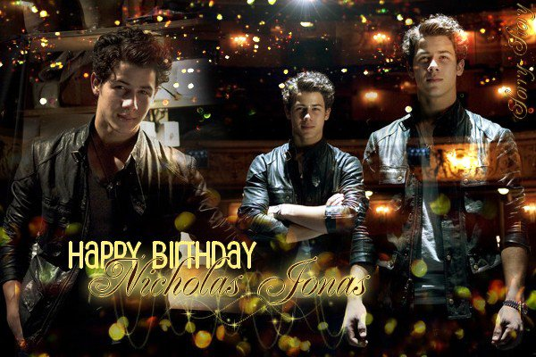 . Sorry-Story présente .  ღ Nicholas Jonas 18th B-Day  ღ. .