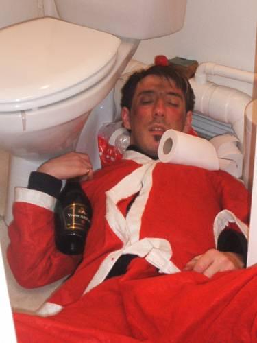 Noel au Salon : Eddie le pere Noel Clochard ! mdr !!!!! La honte quand meme ! lol