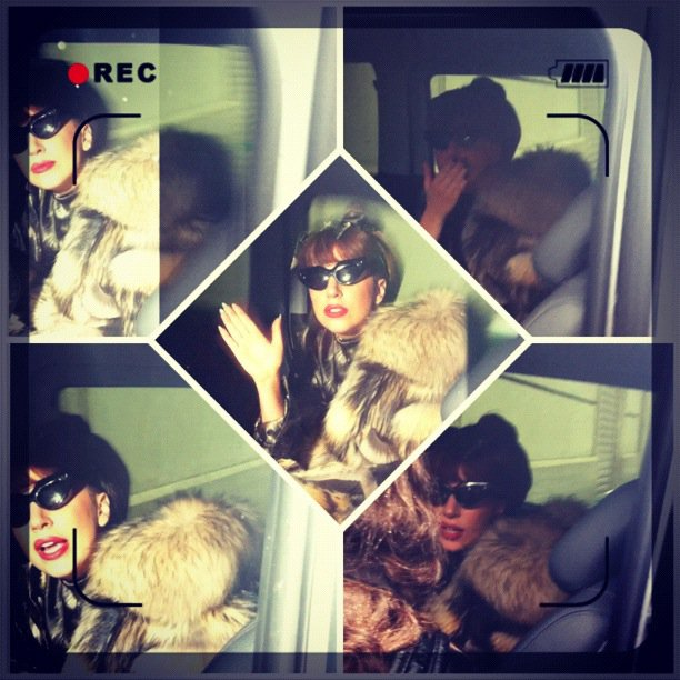 Gaga quitte son hotel à Paris direction l'Allemagne, 24 Sept 2012