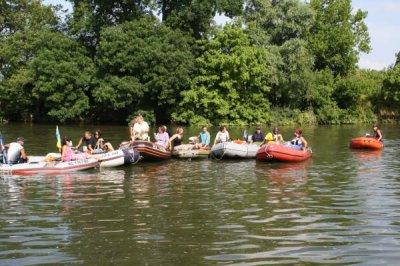 Sortie en bateaux sur la SAONE