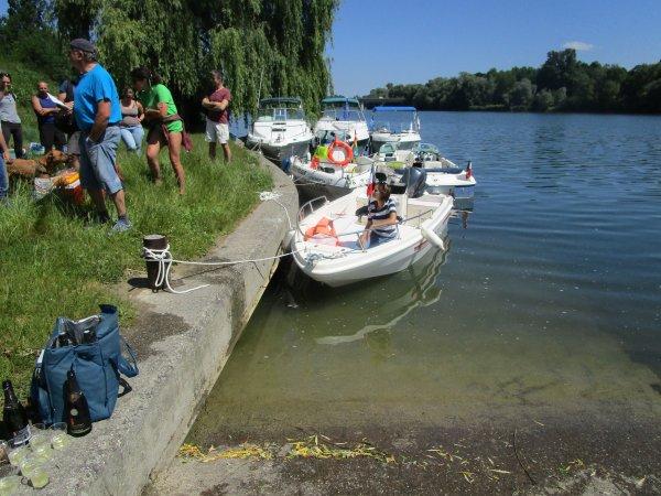 RHIN NAUTISME - SORTIE en BATEAUX à SASSBACH en Allemagne le 10 juin