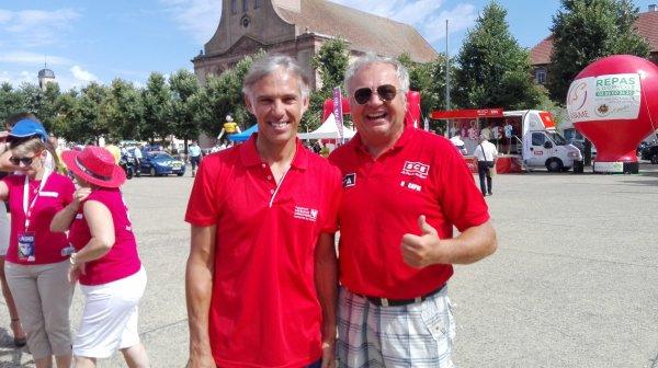 RHIN NAUTISME au départ du Tour d' Alsace avec Paul BELMONDO