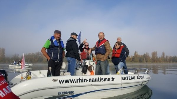 SORTIE en BATEAUX sur le RHIN le 14 octobre avec RHIN NAUTISME