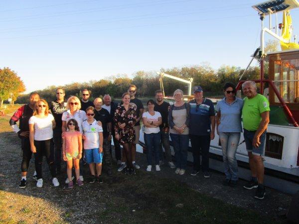 SORTIE en BATEAUX sur le CANAL de NIFFER le 14 octobre