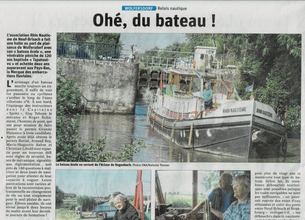 "ARTICLE DE PRESSE    "" MS  TAPATOUTVU"""