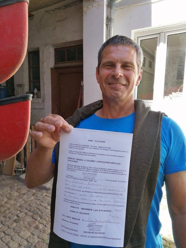 ATTESTATION PASSAGERS  ASP avec RHIN NAUTISME 100% REUSSITE