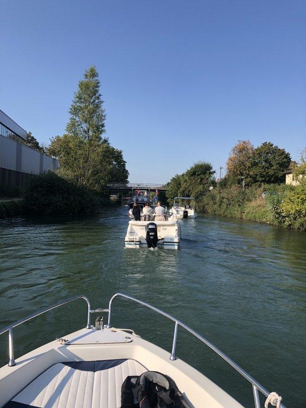 SORTIE en BATEAUX sur le CANAL de MULHOUSE et le SUNDGAU