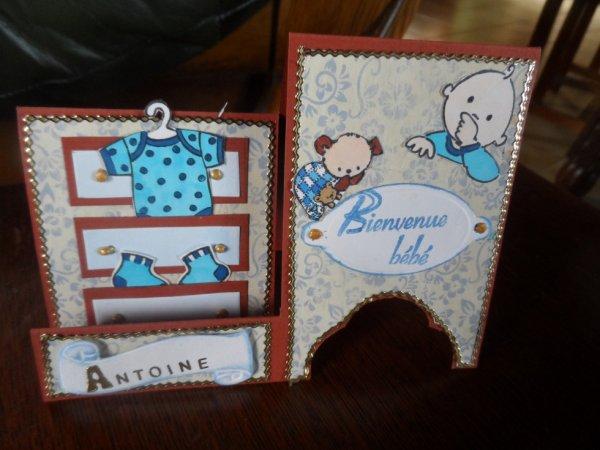 Carte pour Antoine mon petit fils
