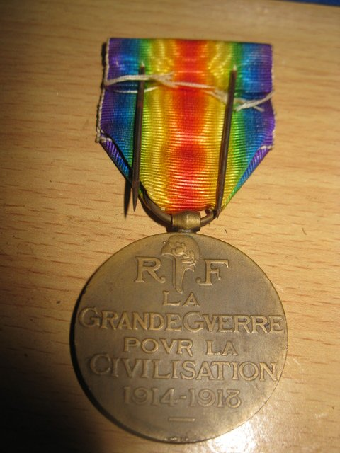 medaille de la victoire interalliées appartenant a feu mon arrière grand père