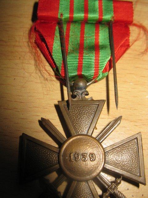 croix de guerre 1939 appartenant a feu mon grand oncle