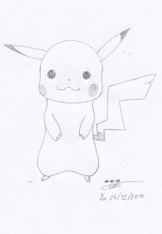 Dessin d'une Pikachu demandé par Le-ptit-chat-du29