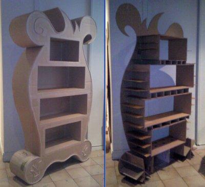 cr ation biblioth que enfant meubles en carton et d co. Black Bedroom Furniture Sets. Home Design Ideas
