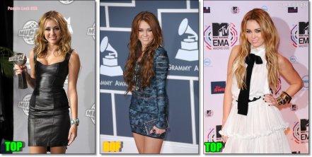 Quelques robes de Miley Cyrus