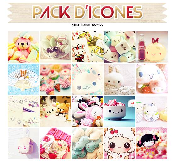 Pack d'icônes Kawaii
