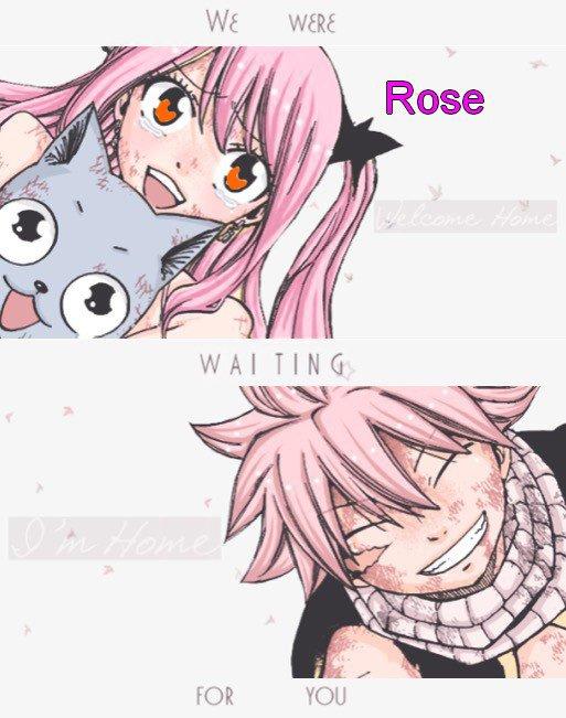 Rose, Happy et Natsu