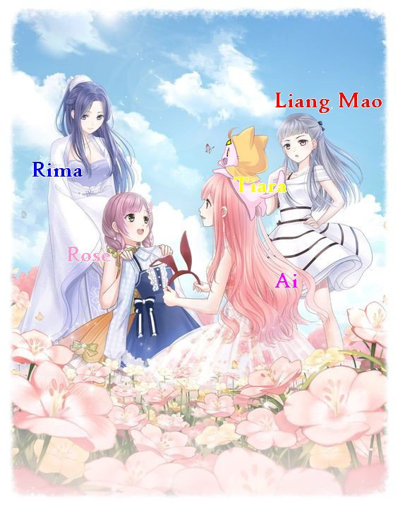 Rima, Ai, Rose, Liang mao et Tiara!!!!!