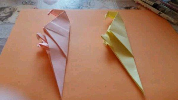 Perroquet en origamie