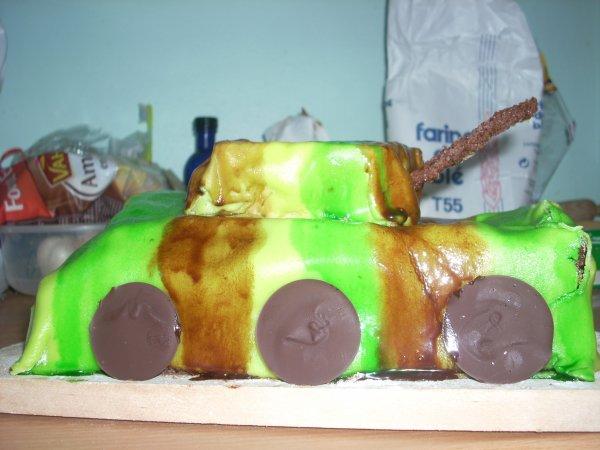 Gâteau d'anniversaire pour les 7 ans de mon grand