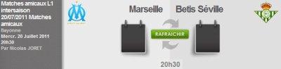 Match amical OM Bétis Séville