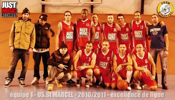 EQUIPE 1 - US.St MARCEL  2010/2011 sponsorisé par JUST MUSIC