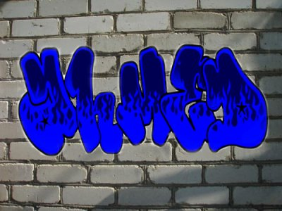 "Graffiti my name ""ahmed"""