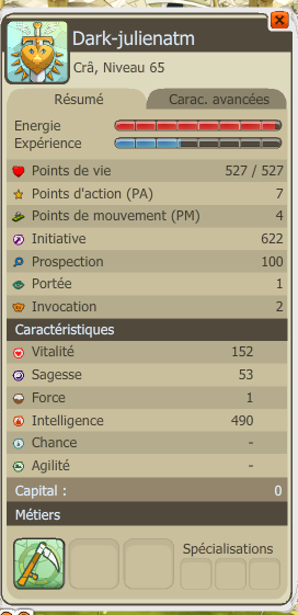 MON CRA INTEL LEVEL 65