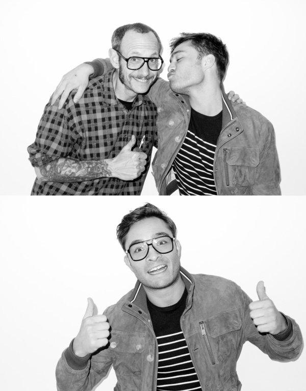 Début Juin 2012 Ed à fait un très beau photoshoot en Noir & Blanc pour le célebre photographe Terry Richardson !