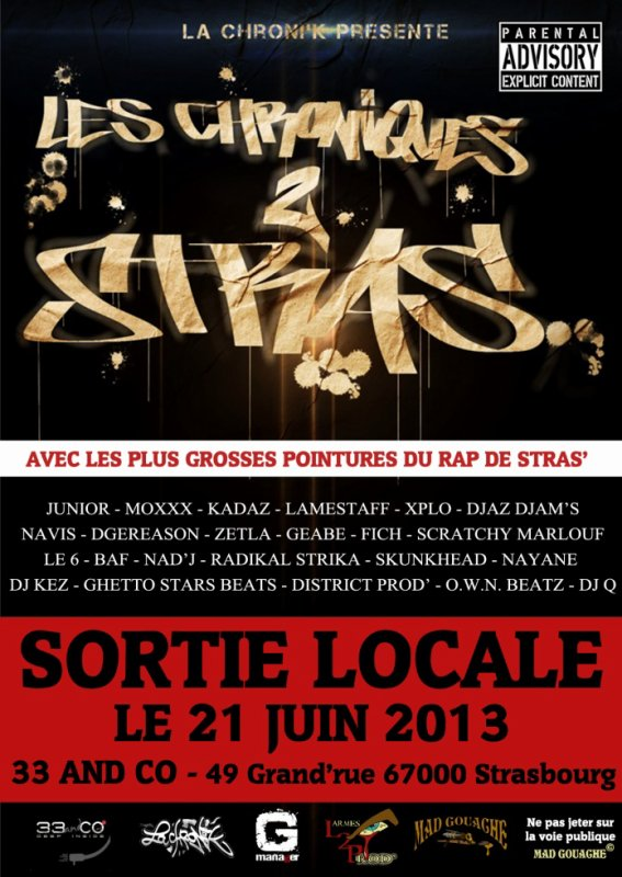 La Chroni'k Présente LesChroniques2Stras !!!!! le 21 juin 2013