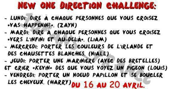 One Direction Challenge!