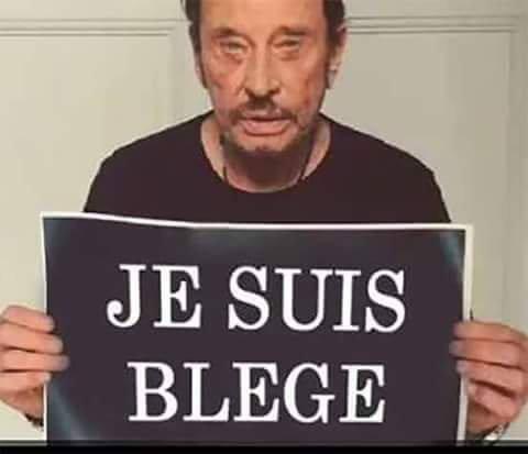 Avec un peu de retard; Johnny à réagi aux attentats de Bruxelles