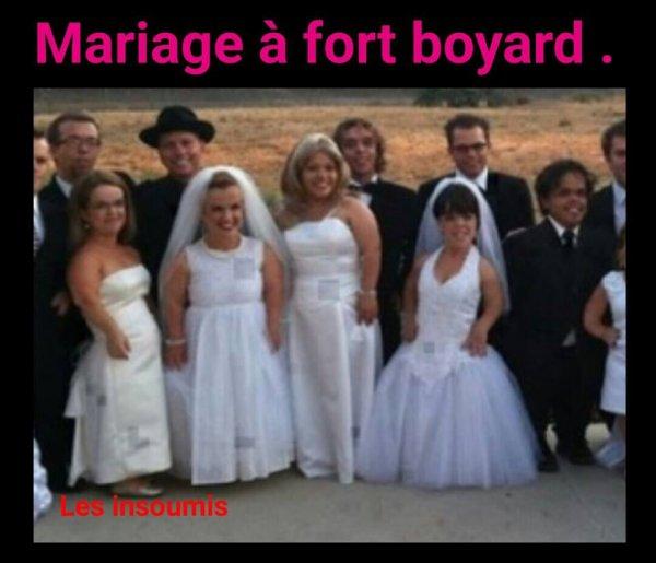 Mariage à Fort Boyard.