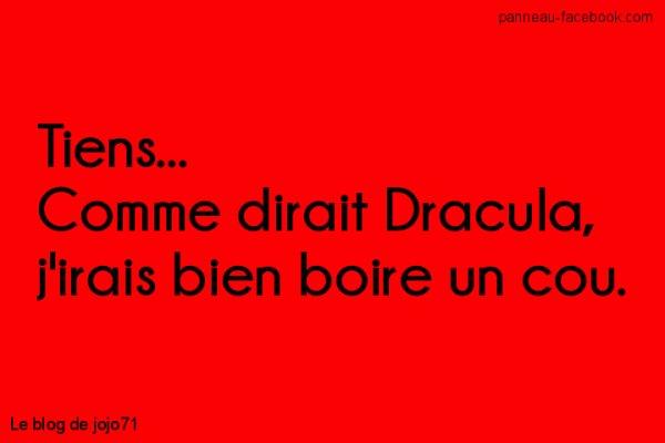 Le panneau du jour: Dracula