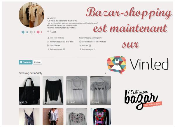 Ouverture de ma boutique sur Vinted !