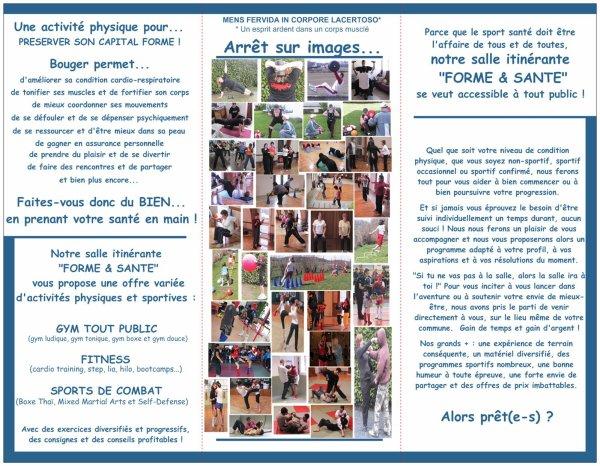 """Une salle """"Forme & Santé"""" itinérante sur le département du Cantal."""