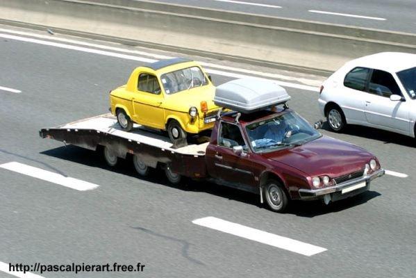 cx citroën portant une vespa 400 - Pour mon ami Citroën